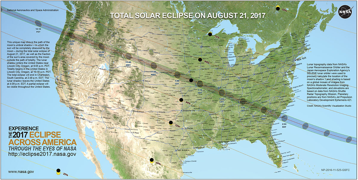 The North American Total Solar Eclipse Map